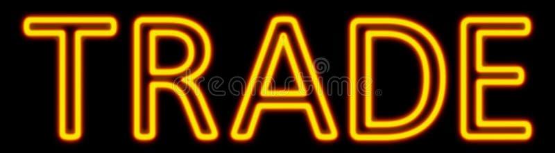 Trade neon sign vector illustration