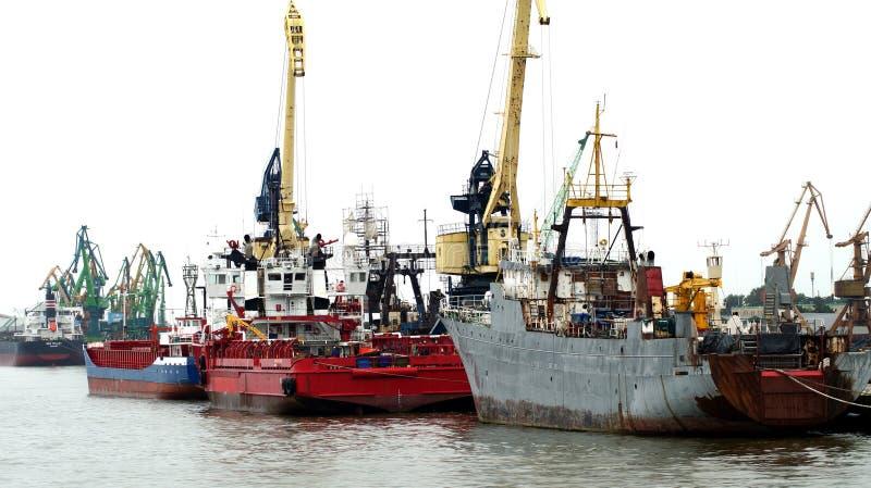Trade port royalty free stock photos