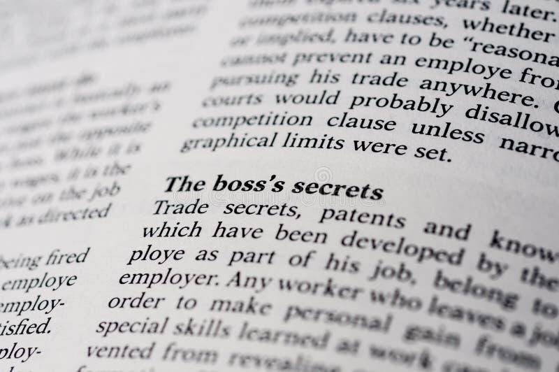 Trade Secret. Conceptual trade secret by the company big boss royalty free stock image