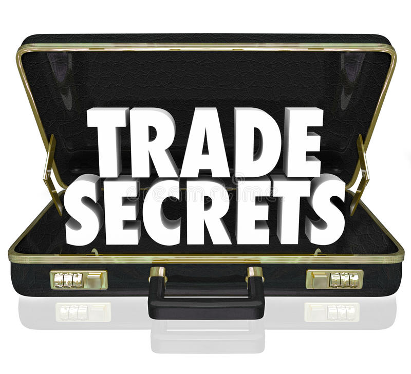 Trade Secrets Briefcase Business Proprietary Information Intellectual Property stock illustration