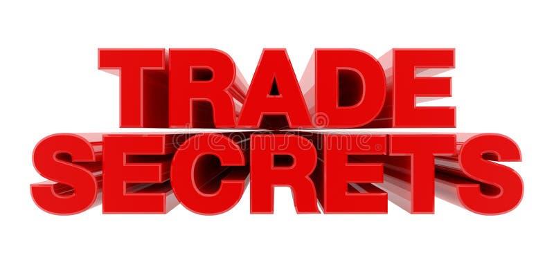 TRADE SECRETS red word on white background illustration 3D rendering vector illustration