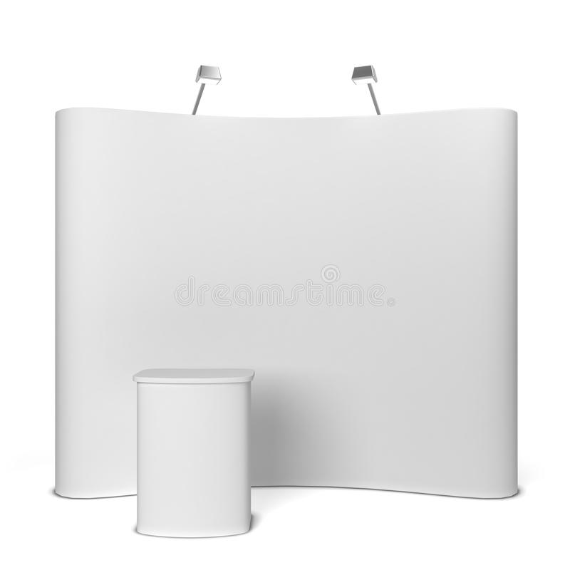 Trade show booth stock illustration