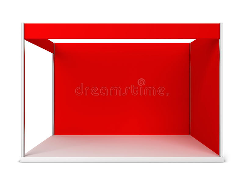 Trade show booth vector illustration