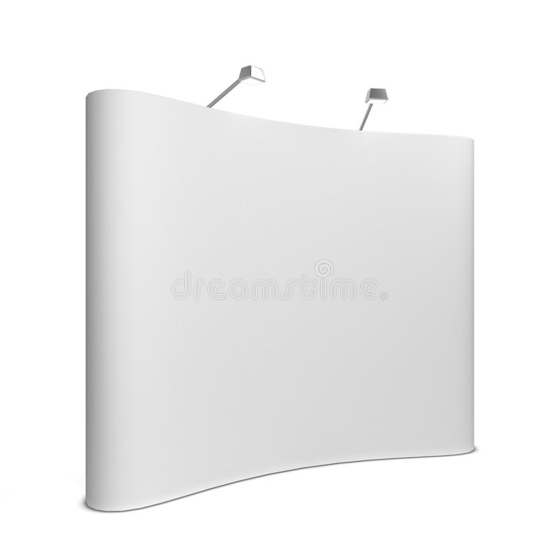 Trade show booth. 3d illustration on white background vector illustration