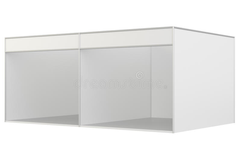 Trade show booth. 3d rendering isolated on white background royalty free stock photo