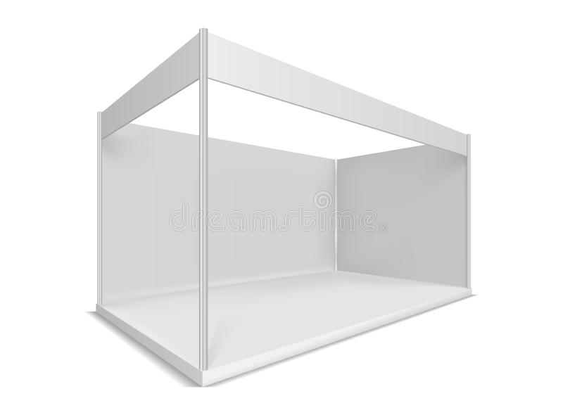 Trade show booth. Illustrations isolated on white background. Graphic concept for your design royalty free illustration