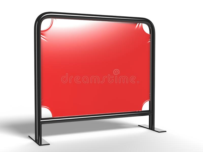 Trade show exhibition advertising runner table adjustable cloth Banner or Table cover. 3d render illustration. Trade show exhibition advertising runner table royalty free stock photo