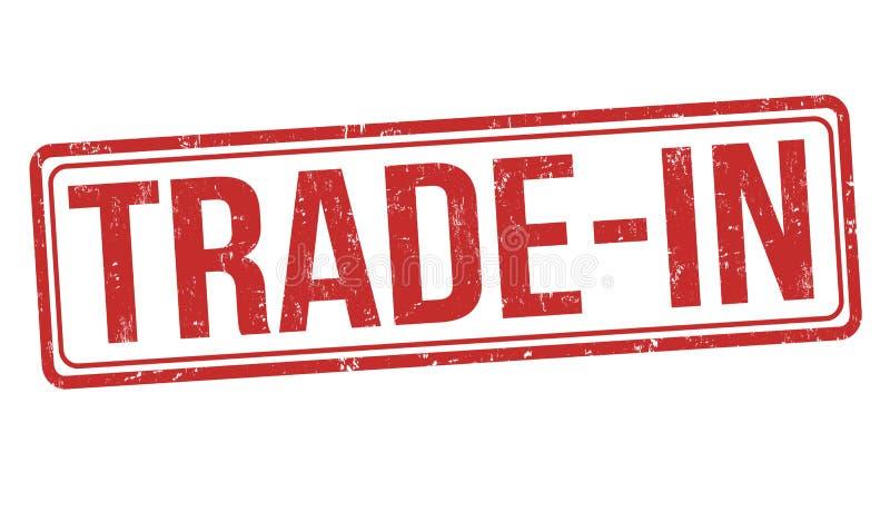 Trade-in sign or stamp. On white background, vector illustration stock illustration