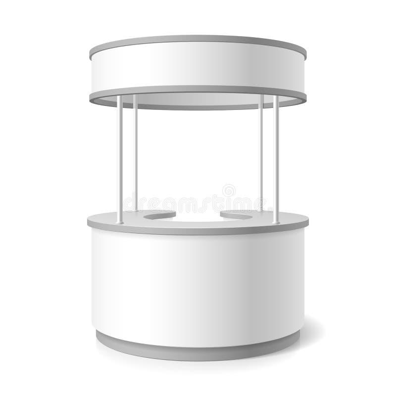 Trade stand. Vector illustration on white stock illustration