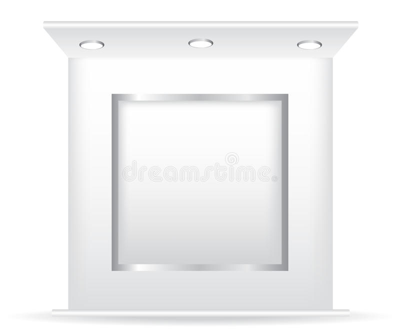 Trade stand and frame illustration. On white background royalty free illustration