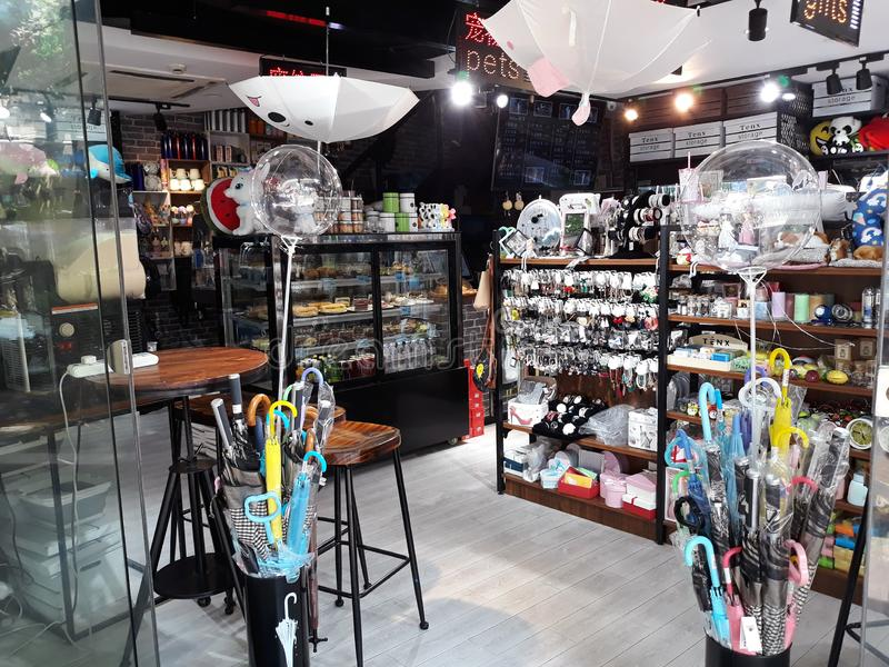 Shanghai store with diverse products. royalty free stock image
