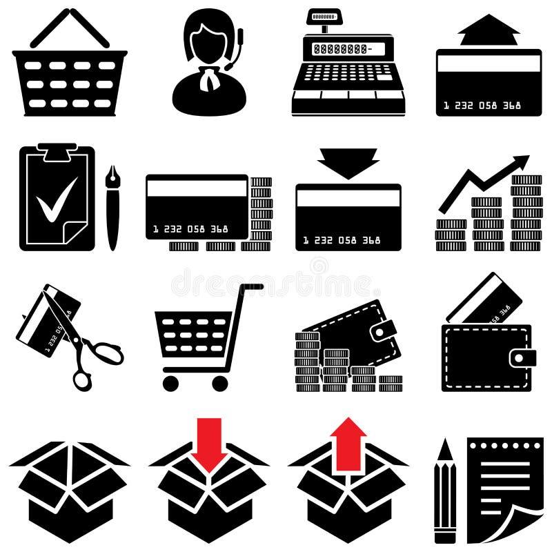 Trade symbol set(black and white). Black and white trade symbol set vector illustration
