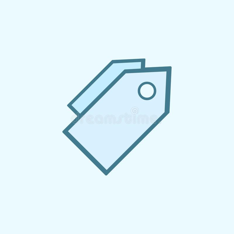 trade tags field outline icon. Element of 2 color simple icon. Thin line icon for website design and development, app development vector illustration