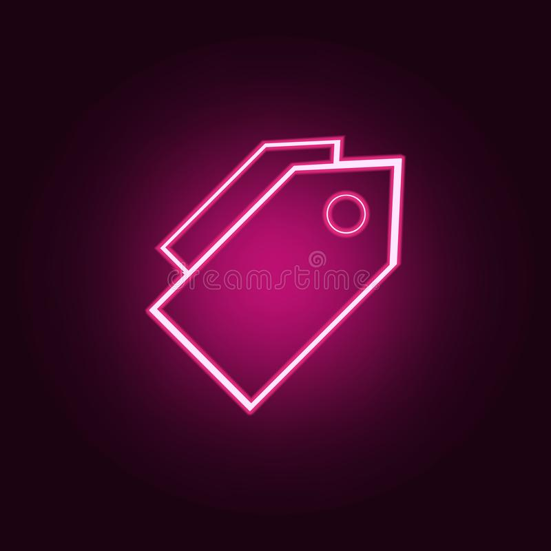 trade tags icon. Elements of web in neon style icons. Simple icon for websites, web design, mobile app, info graphics royalty free illustration
