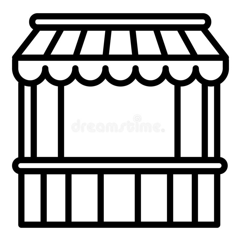Trade tent icon, outline style royalty free illustration