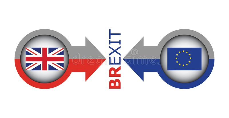Trade war - Brexit, economic conflict betwen United Kingdom and European Union royalty free stock images