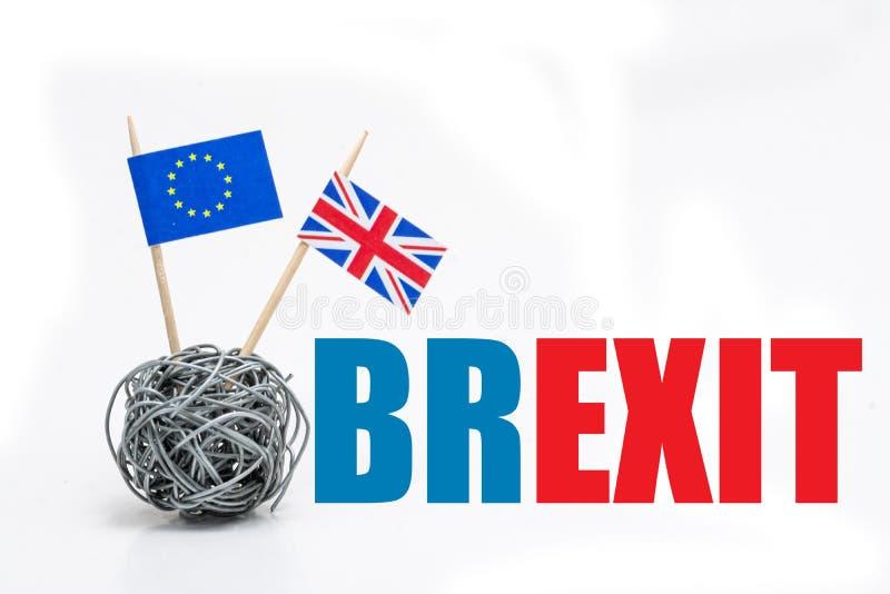 Trade war - Brexit, economic conflict betwen United Kingdom and European Union stock photos