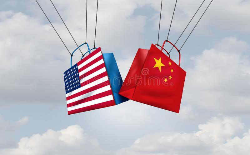 Trade War China United States vector illustration