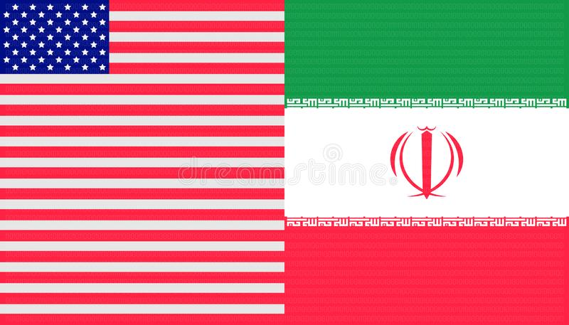 Trade war concept. united states and iran flag background. vector illustration eps10 stock illustration