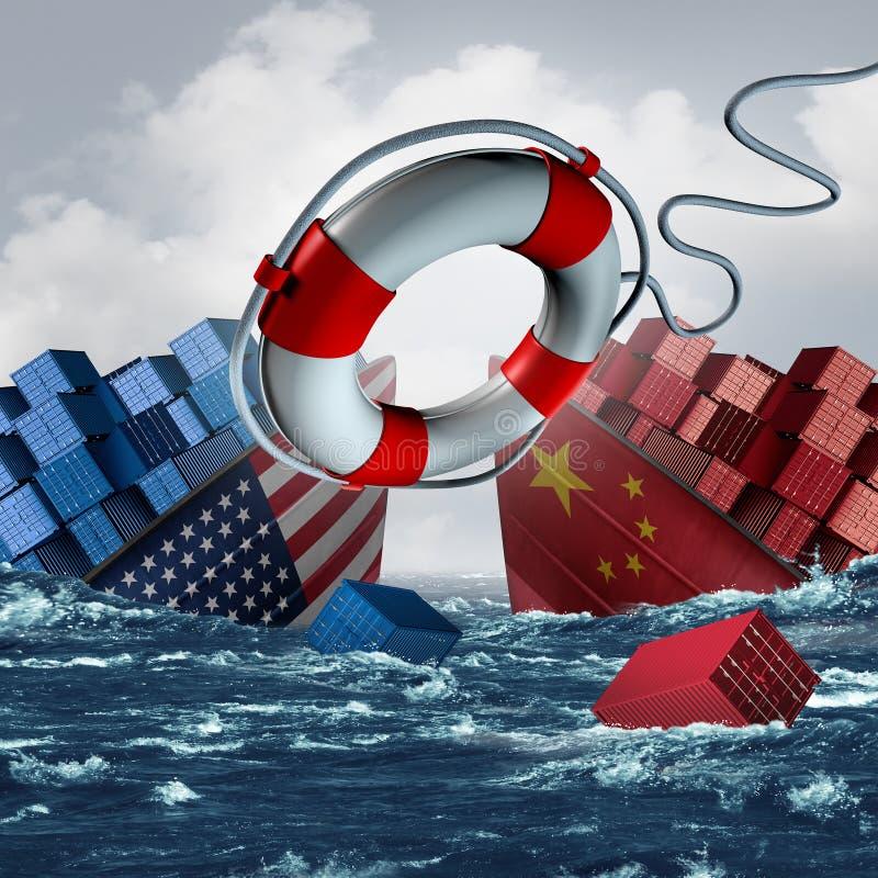 Trade War Solution royalty free illustration