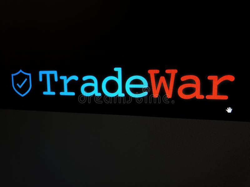 Trade War Text. On display royalty free stock photo