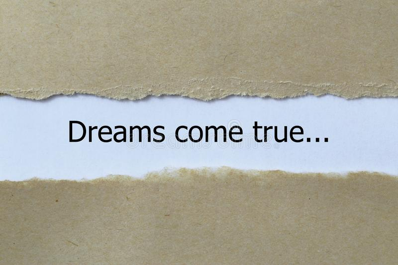Dreams come true stock image
