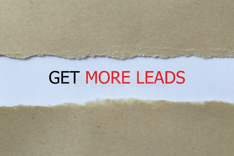 Get more leads illustration stock photos