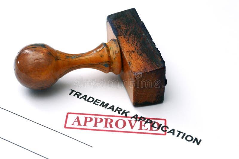 Trademark application. Close up of Trademark application royalty free stock photos