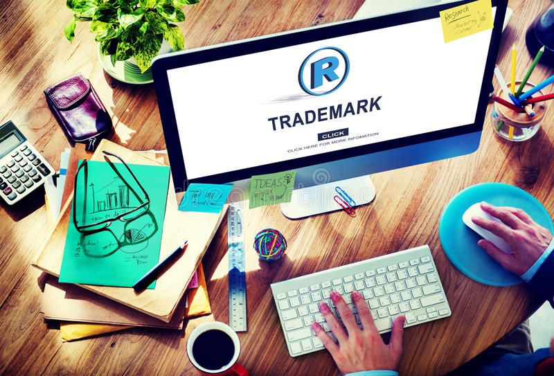 Trademark Brand Rights Protection Copyright Concept stock images