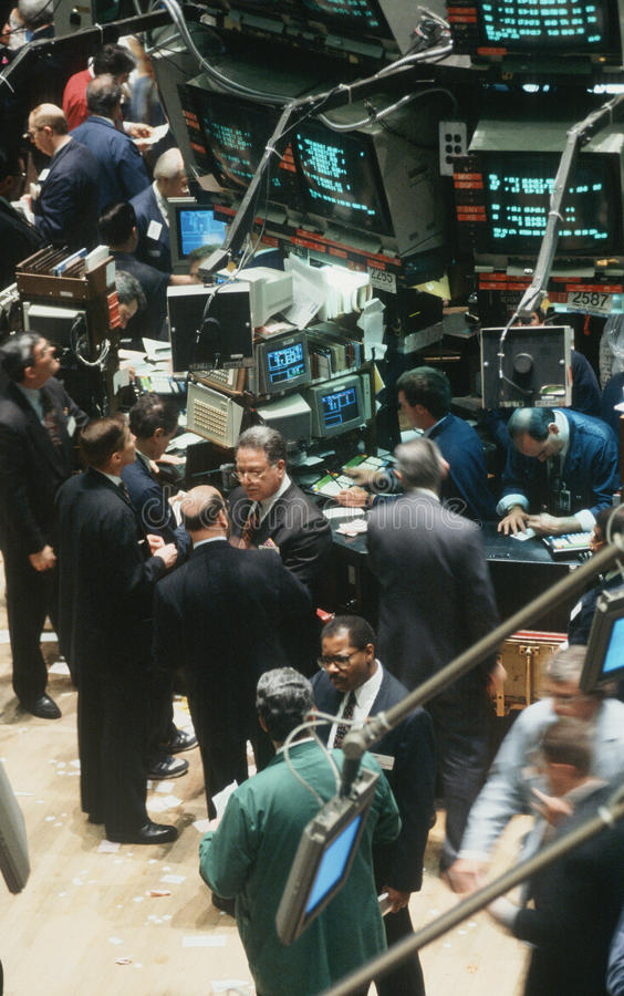 Traders at New York Stock Exchange stock photos