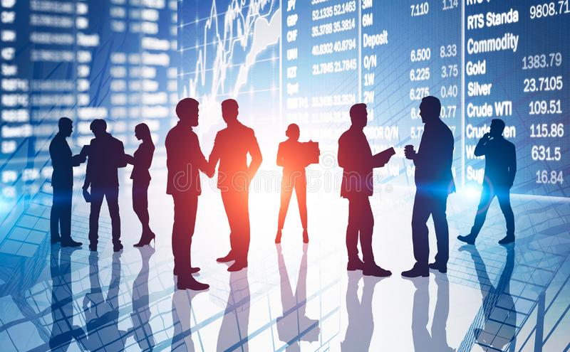 Traders and stock market concept stock image