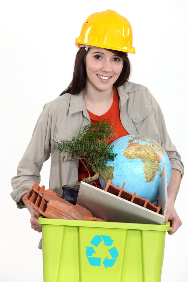 Tradeswoman Concerned About The Environment Royalty Free Stock Photo