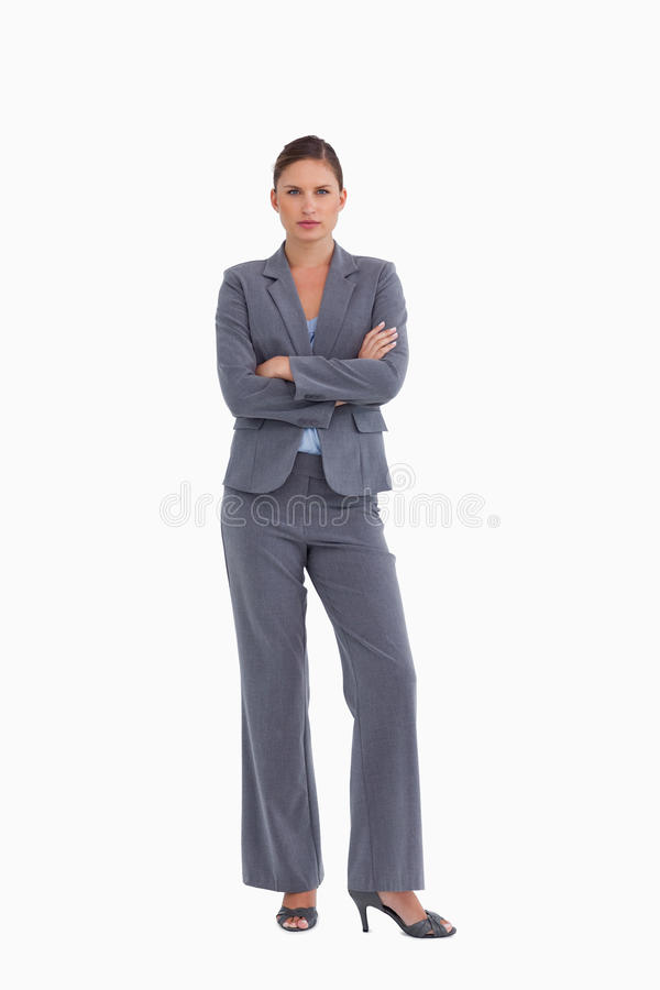 Download Tradeswoman Standing With Her Arms Folded Stock Image - Image: 23015181