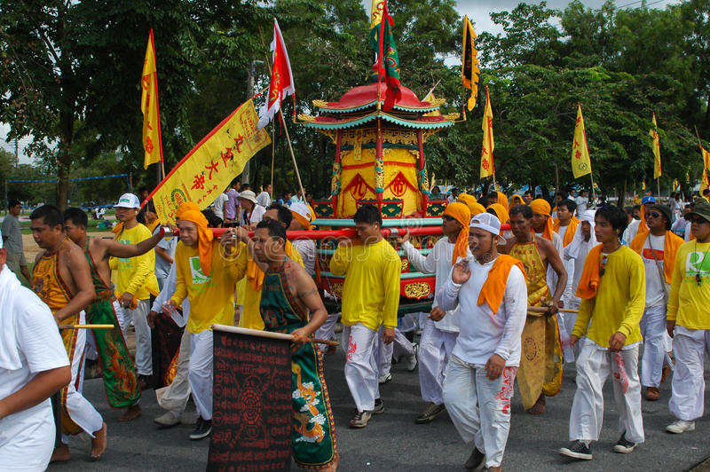 Tradición provincial del festival vegetariano de Phuket fotografía de archivo libre de regalías