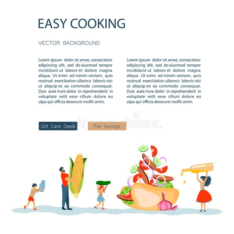 Tradici?n feliz de la familia para cocinar masterclass o el libro de la receta stock de ilustración