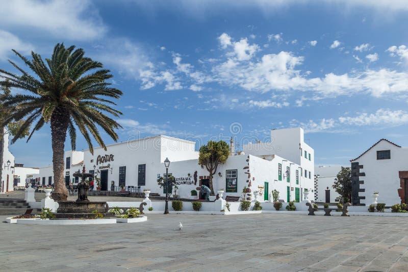 Tradicional村庄特吉塞在兰萨罗特岛,加那利群岛 免版税库存图片