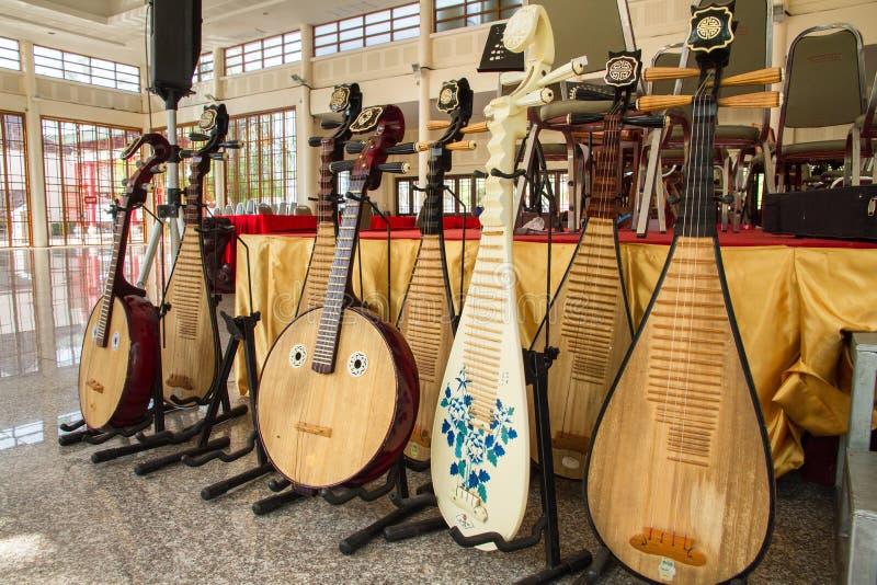 Tradicional um instrumento musical chinês imagens de stock