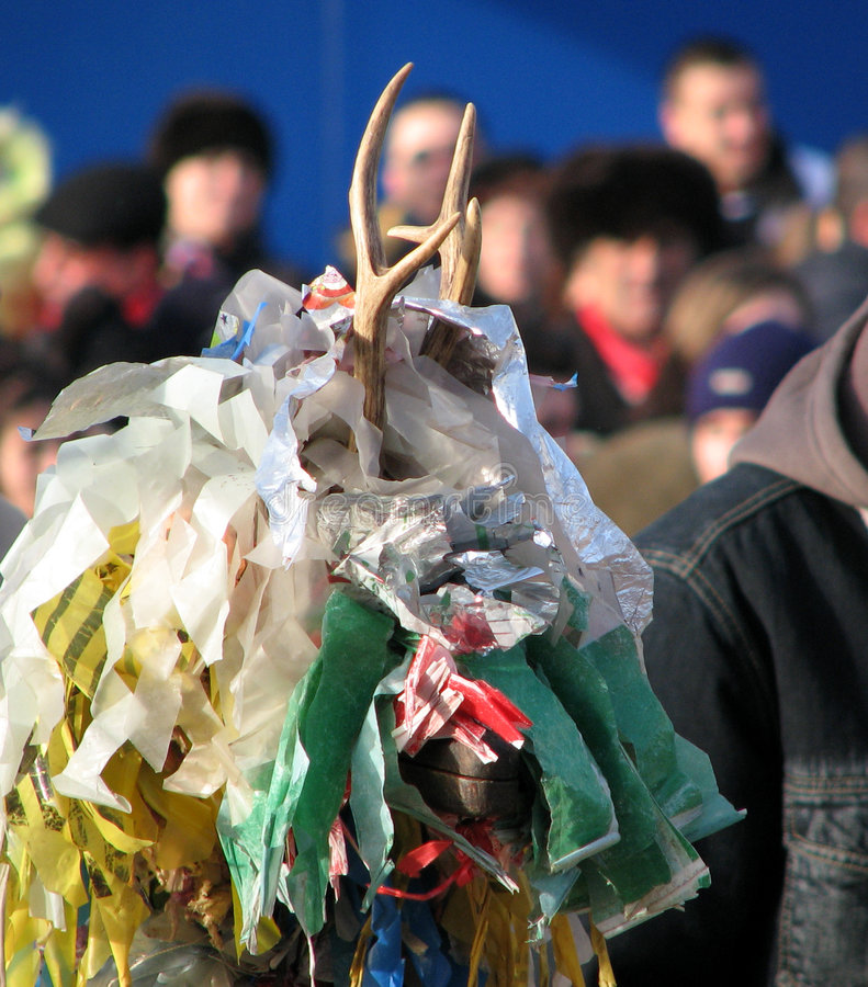 Tradiciones del invierno en Rumania fotografía de archivo libre de regalías