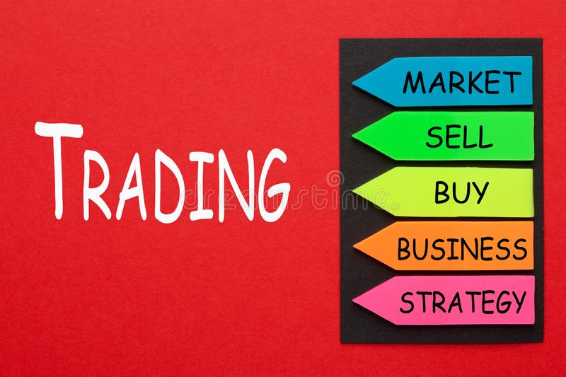 Trading Diagram Concept stock photo