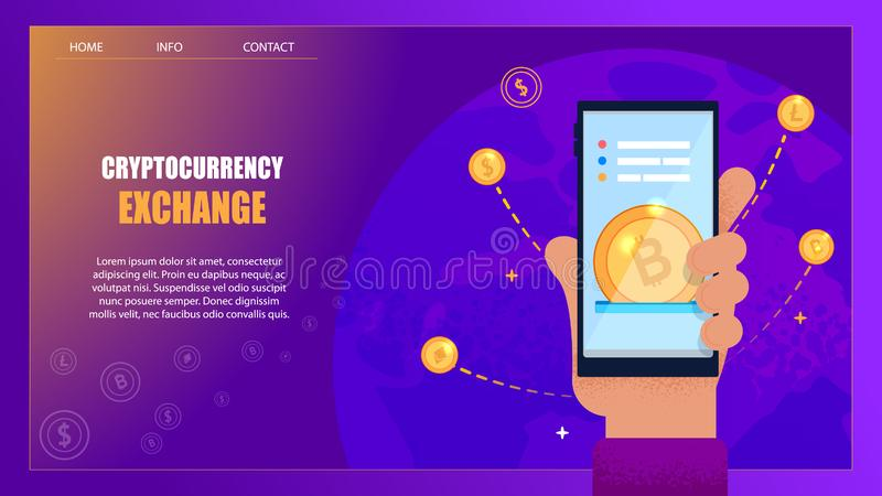 Trading Cryptocurrency Exchange on Real Money royalty free illustration