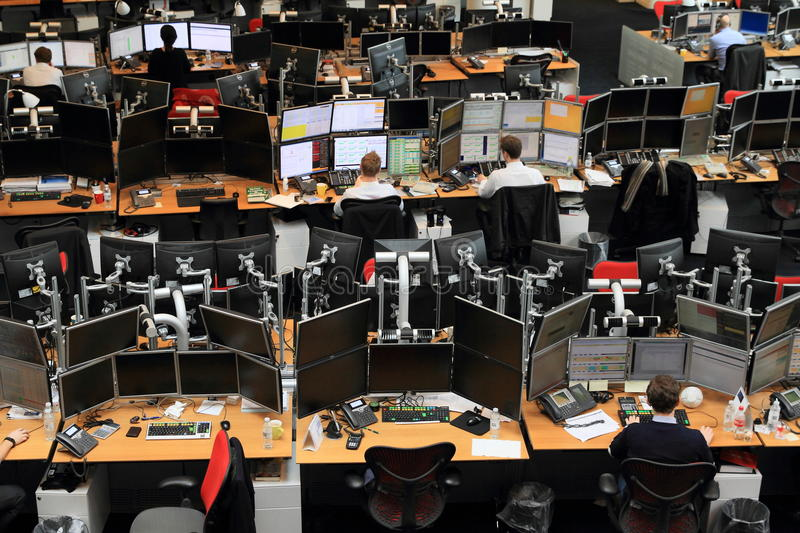 Download Trading Floor Editorial Image. Image Of Work, Saxo, Monitor    69620755