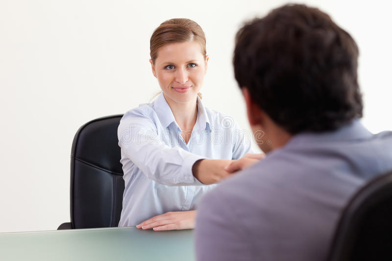 Download Trading Partner Greeting Each Other Stock Image - Image: 22221581