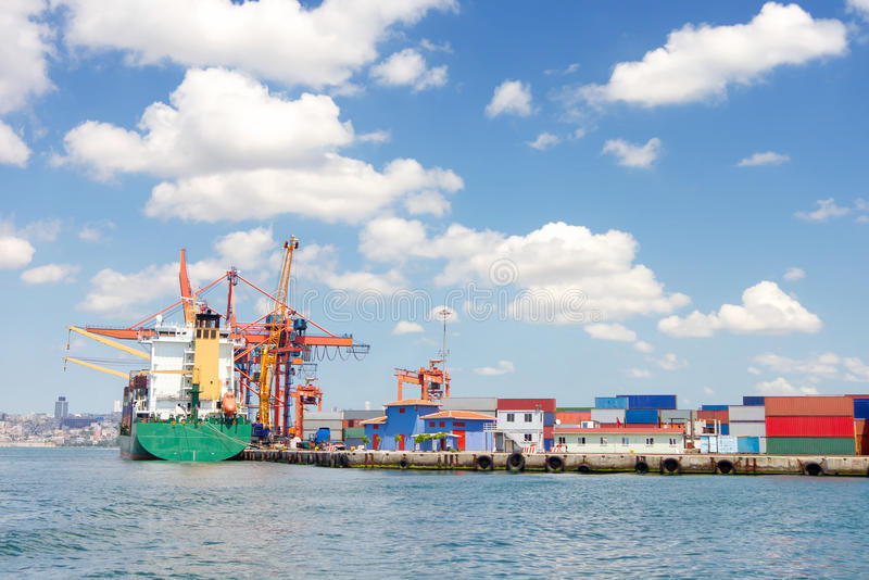 Download Trading port stock image. Image of cargo, large, full - 20149867