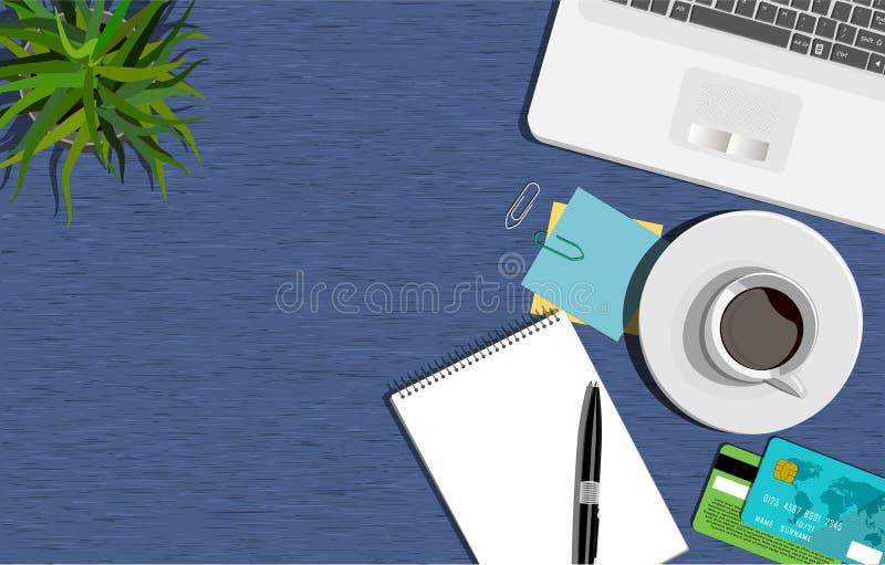 Trading. Workspace concept. Flat illustration. Business office vector illustration