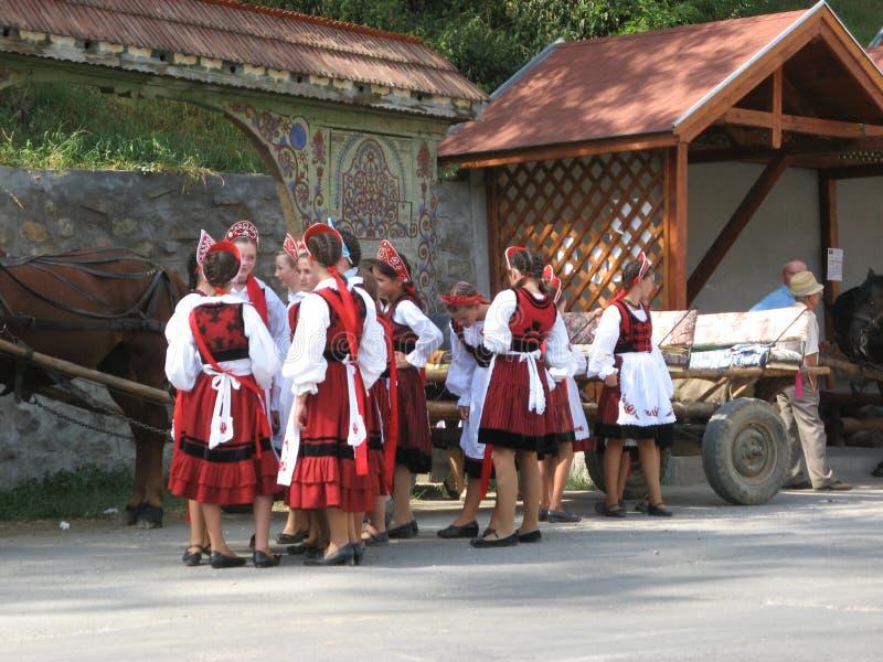 Traditie in provincie Harghita stock foto