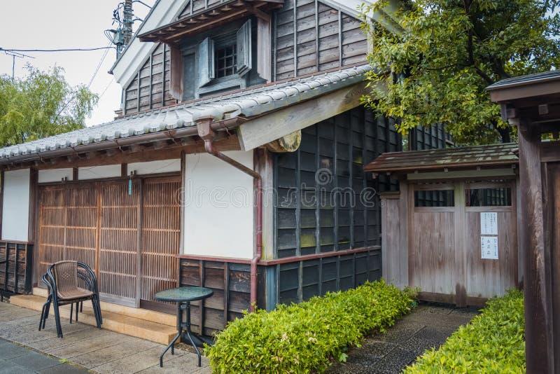 Traditiewinkel in Sawara-dorp in Katori, Chiba, Japan royalty-vrije stock foto's