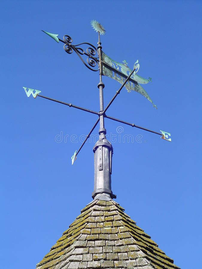 Traditinal Copper Weather Vane stock images