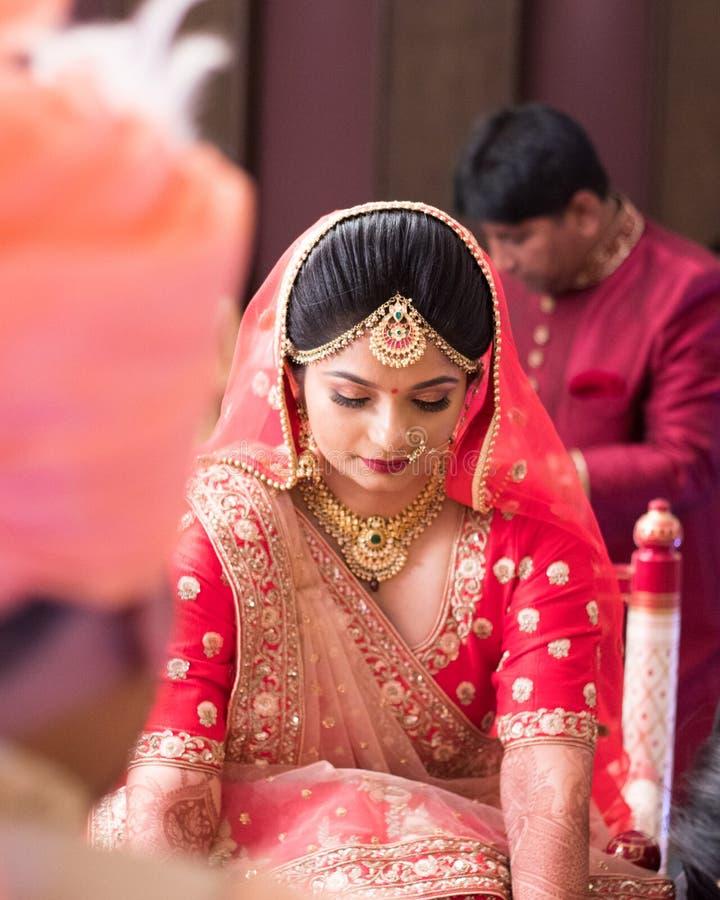 Free Traditinal Indian Bride In Shaadi Mandap - India Ahmedabad Royalty Free Stock Photography - 147483537