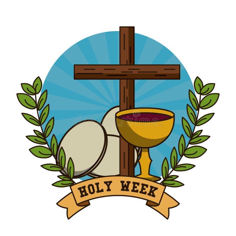 Tradition de catholique de semaine sainte illustration libre de droits