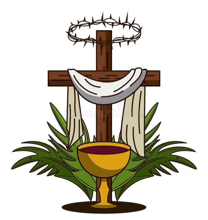 Tradition de catholique de semaine sainte illustration de vecteur